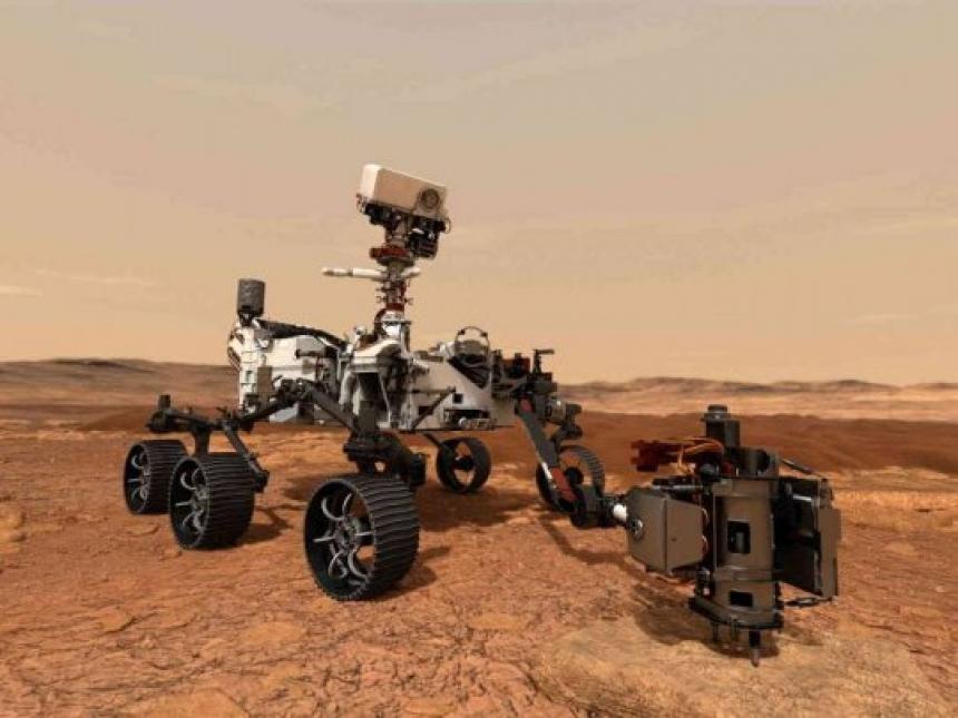 El rover de la NASA que aterrizó el Marte comenzó a buscar restos de vida